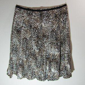 Christopher & Banks Brown Printed Skirt